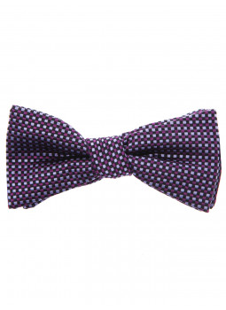 Bow tie pure silk chequered parma