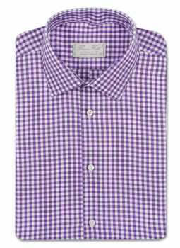 Shirt man slim fit gingham
