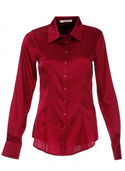 Blouse cinched in stretch silk