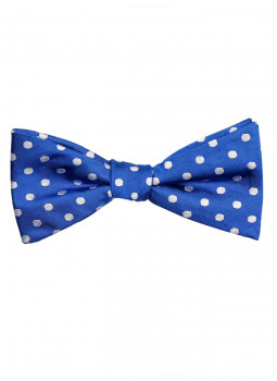 Bow tie pure silk polka dot