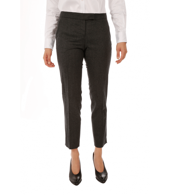 Cigarette pants woman in pure flannel Vitale Barberis Canonico