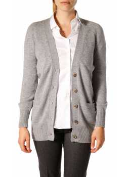 Woman vest buttoned in wool and cashmere