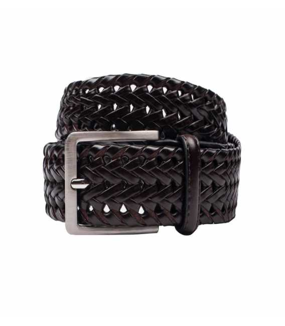 Braided belt leather Coffee
