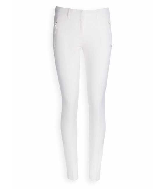 Technical pants woman cotton blend stretch