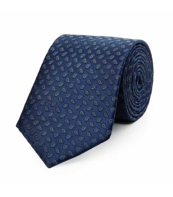 Tie in pure silk with small pattern cashmere