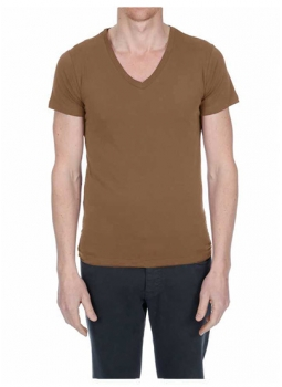T-shirt homme col V jersey 100% coton