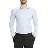 Shirt man slim fit cotton pique