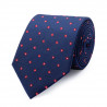 Tie in pure silk patterned square