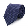 Tie in pure silk navy with colorful dots