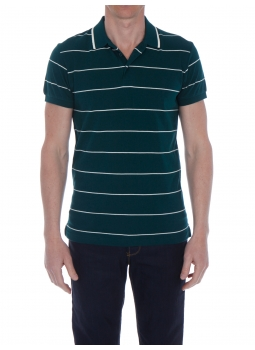 Polo man striped jersey 100% cotton