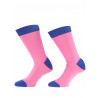 Mens socks over of Scotland 100% cotton pink and indigo