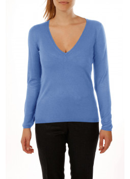 Pull maille bambou cachemire col V