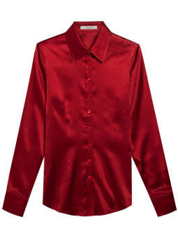 Blouse cinched in pure silk