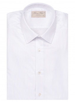 Shirt man slim fit with thin stripes