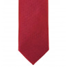 Thin tie in pure silk smooth