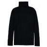 Sweater women turtleneck in 100% merino wool