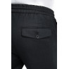 Trousers in pure wool 110's with drawstring