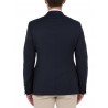 Blazer Man cinched bodices button Silver wool