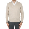 Sweater man V neck cashmere and wool