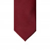 Thin tie in pure silk ribbed