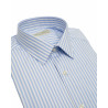 Shirt man slim fit with wide stripes