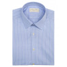 Shirt man slim fit sky-white stripes