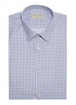 Shirt man slim fit check pattern