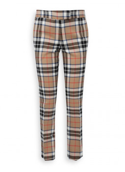 Pants woman in Tartan 100% wool