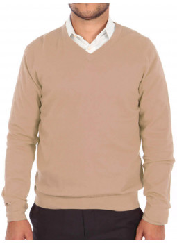 Pull homme 100% cachemire fin col V