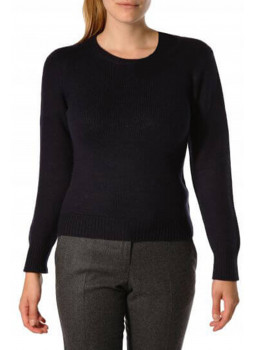 Pulle woman round neck in wool and cashmere