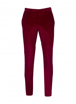 Pantalon ajusté velours côtelé stretch