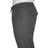 Pants in pure wool 110's with drawstring
