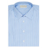 Chemise homme coupe droite à rayures blanches