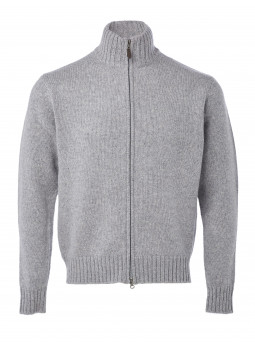 Pure Cashmere zipped Cardigan