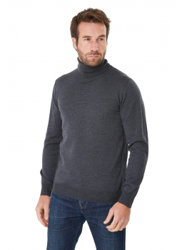 Sweater man turtleneck in merino wool