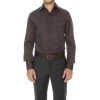 Shirt slim fit solid collar the top two buttons