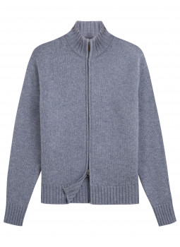 Cashmere and Wool Zipped Cardigan