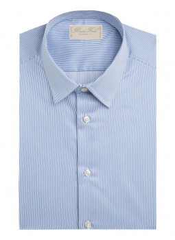 Classic shirt sky thin blue stripes