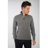 Cashmere and Wool Bicolor Zipped Polo