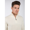 Cashmere and Wool Zipped Polo