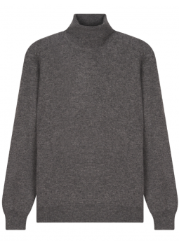 Cashmere and Wool Turtleneck Pullover